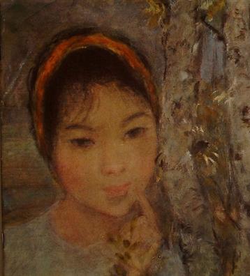 Tranh cua danh hoa Le Thi Luu 'hoi huong' sau 50 nam