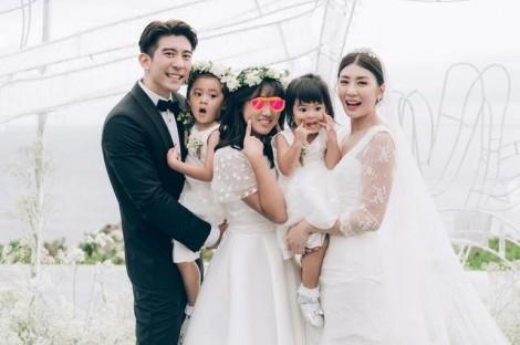 Giả Tịnh Văn hạnh phúc trong đám cưới lần hai ở tuổi 44