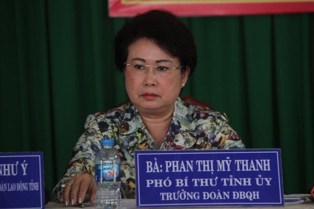 Sau ky luat, ba Phan Thi My Thanh ve lam tai Mat tran to quoc tinh