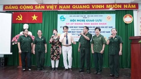 Cán bộ, hội viên quận 11 giao lưu với các cựu chiến binh