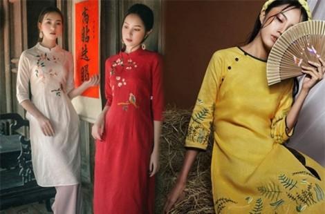 Những kiểu áo dài cách tân được yêu thích dịp tết Kỷ Hợi