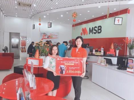Khách hàng gửi tiết kiệm liên tiếp nhận lộc xuân hấp dẫn từ chương trình ưu đãi tết của MSB