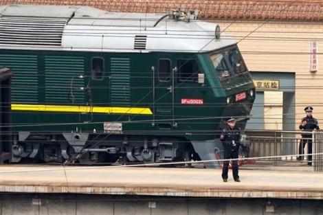 Ga Đồng Đăng chuẩn bị đón đoàn tàu của Chủ tịch Kim Jong-un