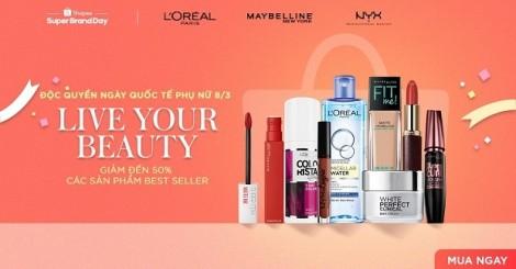 Shopee và L'Oréal chào mừng ngày 8/3 bằng chương trình Super Brand Day trên toàn khu vực