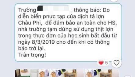 Hang loat truong mam non 'tay chay' thit lon khoi thuc don