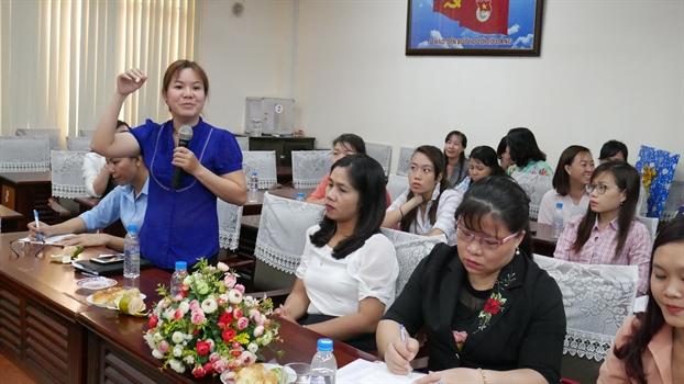 Hoi Phu nu Q. Tan Phu trao doi kinh nghiem voi Hoi Phu nu TP. Ben Tre