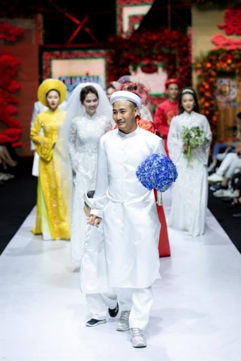 Áo dài cưới rực rỡ, đính kết kỳ công dành cho ngày hạnh phúc