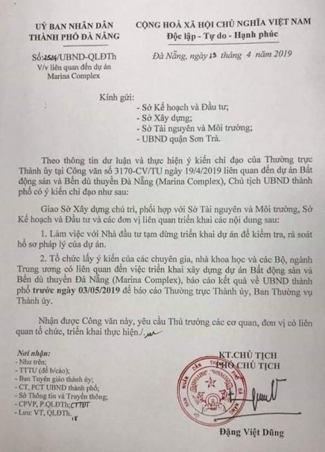 Đà Nẵng tạm dừng dự án lấn sông Hàn Marina Complex để kiểm tra pháp lý