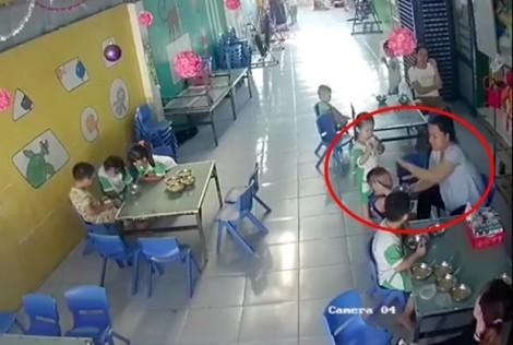 Giáo viên lớp mầm non thừa nhận đánh trẻ khi cho ăn