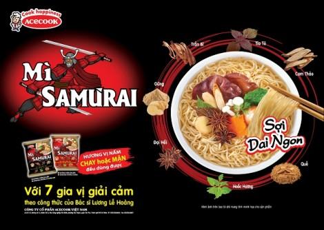 Mì Samưrai bước đột phá mới của Acecook Việt Nam