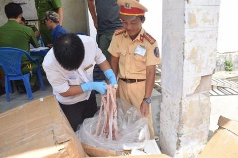 Dịch tả heo châu Phi: 1,6 tấn nội tạng thối từ Lào về Việt Nam
