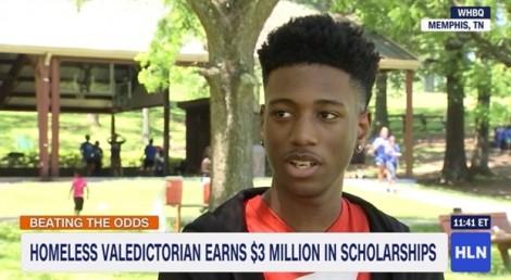 Cậu học sinh không nhà giành tổng cộng 3 triệu USD học bổng đại học