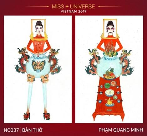 Ngoài 'Bàn thờ', cuộc thi tìm trang phục dân tộc cho Hoàng Thuỳ còn có những thiết kế kỳ dị khác