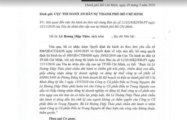 Ba Le Hoang Diep Thao noi gi ve con dau cua cong ty Trung Nguyen?