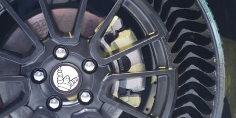 Michelin tung ra loại bánh xe không bơm hơi, không sợ thủng