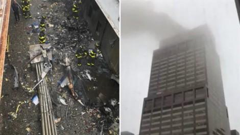 Máy bay rơi khi hạ cánh xuống một tòa nhà New York, phi công thiệt mạng