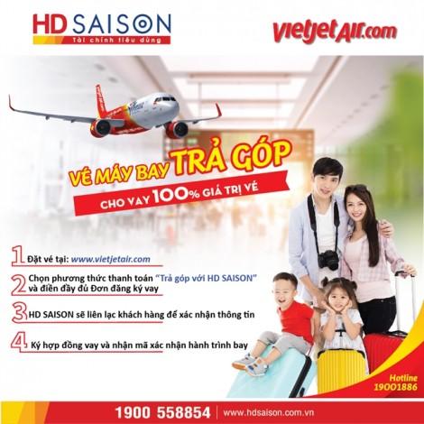 Nhân 'Ngày không tiền mặt', mua vé máy bay trả góp lãi suất 0%