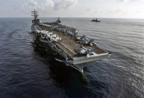 Mỹ - Nhật tiếp tục tập trận chung trên biển Đông
