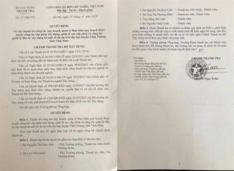 Tiết lộ danh tính 6 cán bộ trong đoàn thanh tra xây dựng nghi 'vòi tiền'