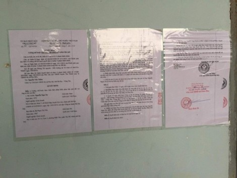 Niêm yết quyết định cưỡng chế dự án 'ma' tại khu vực văn phòng Alibaba Tân Thành