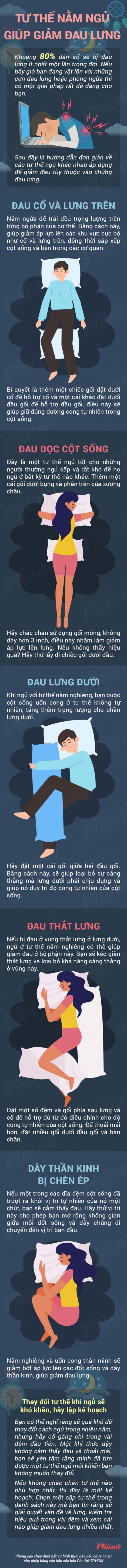 Những tư thế nằm ngủ giúp trị đau lưng