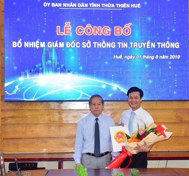 Con trai nguyen chu tich Thua Thien Hue duoc bo nhiem lam giam doc So Thong tin va Truyen thong