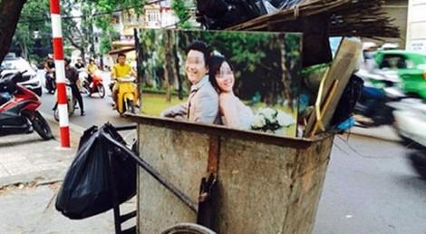 Khi ảnh cưới vùi trong xe rác
