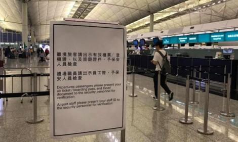 Từ 9 - 11/8, sân bay Hồng Kông chỉ cho phép hành khách và nhân viên vào sảnh ga khởi hành