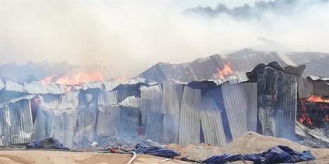 Cháy lớn ở KCN Phú Tài, Bình Định