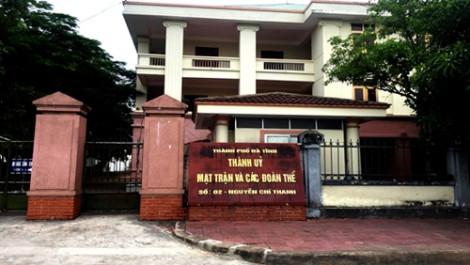 Chủ tịch HĐND TP. Hà Tĩnh bị kỷ luật