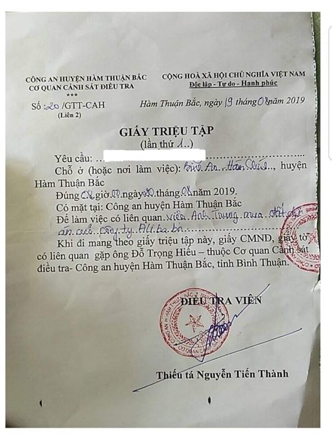 Phong toa tai khoan ngan hang cua lanh dao Cong ty dia oc Alibaba