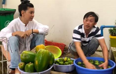 Hoài Linh giản dị hái trái cây, tấu hài ngay tại vườn nhà thờ Tổ