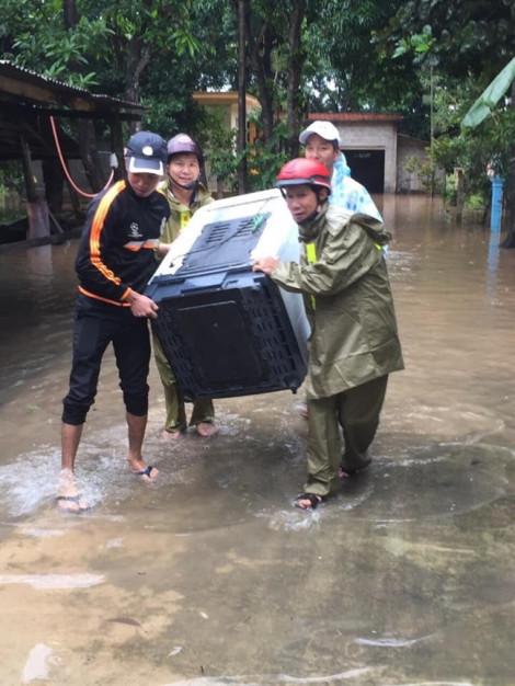 Mưa lớn kéo dài, nhiều vùng ở Quảng Trị ngập sâu, sạt lở
