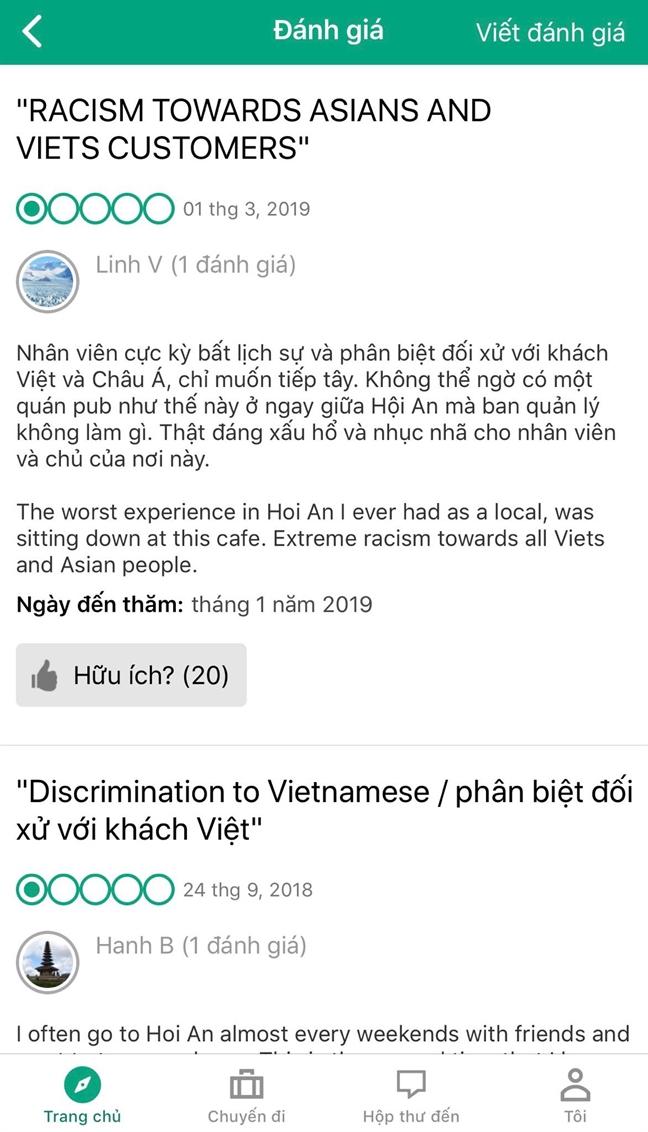 Hoi An moi chu quan ca phe khong ban cho khach Viet giai trinh