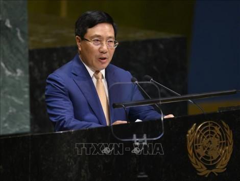 Phó thủ tướng Phạm Bình Minh nêu vấn đề Biển Đông tại Liên Hợp Quốc và đưa 5 đề xuất quan trọng