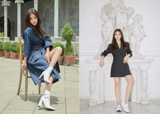 Song Hye Kyo tro lai an tuong voi ve dep quyen ru