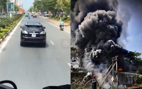 Xử phạt, tước bằng lái của chủ xe Lexus 'chặn' xe cứu hỏa ở Nghệ An