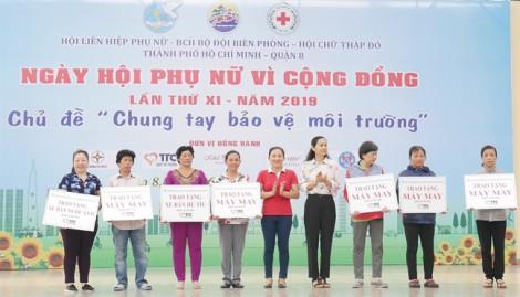 Ngày hội phụ nữ, hướng nhiều hoạt động đến cộng đồng.