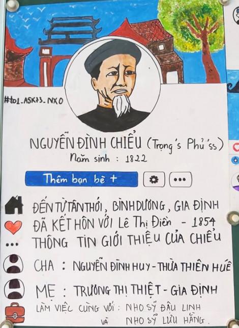 Cuộc đời cụ Nguyễn Đình Chiểu được nhóm học sinh 11 phác họa qua Facebook