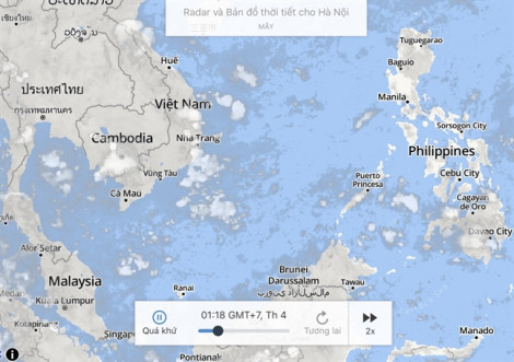 Bản đồ thời tiết weather.com gỡ 'đường lưỡi bò' phi pháp của Trung Quốc