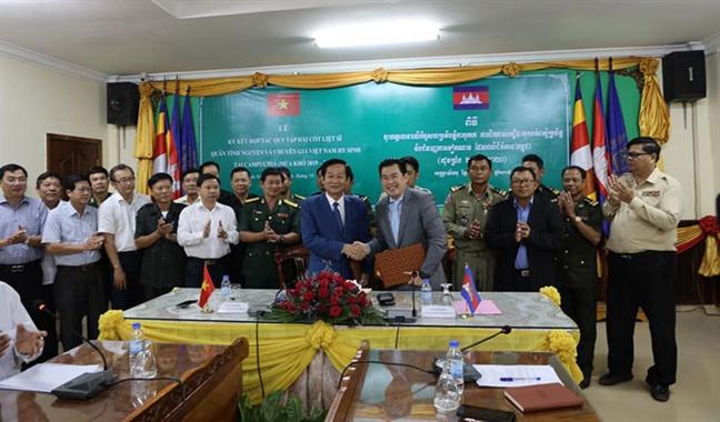Campuchia se tiep tuc tim kiem hai cot bo doi tinh nguyen Viet Nam