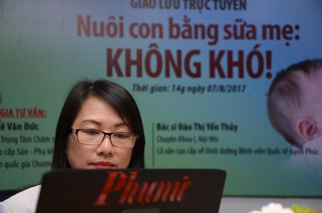 Giao luu truc tuyen 'Nuoi con bang sua me: khong kho'