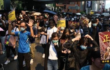 Hồng Kông lại biểu tình bất chấp lệnh cấm từ cảnh sát