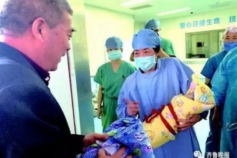 Một phụ nữ Trung Quốc làm mẹ ở tuổi 67