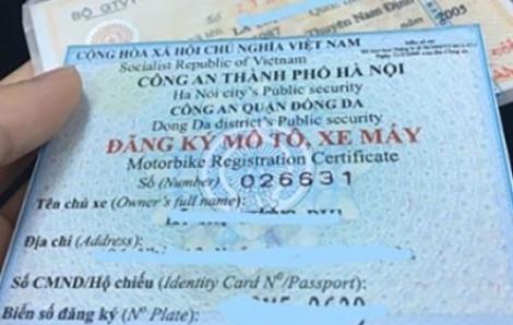 Giấy đăng ký xe có thể được chuyển sang thẻ nhựa có mã QR