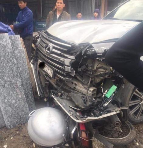 Xác định danh tính tài xế lái xe Lexus ngũ quý 7 gây tai nạn