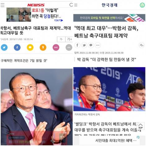Truyền thông Hàn Quốc vui mừng khi HLV Park Hang Seo gia hạn hợp đồng dẫn dắt tuyển Việt Nam