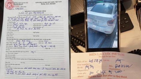 Giam xe, tước bằng lái, phạt tiền tài xế taxi 'chặt chém' khách Tây