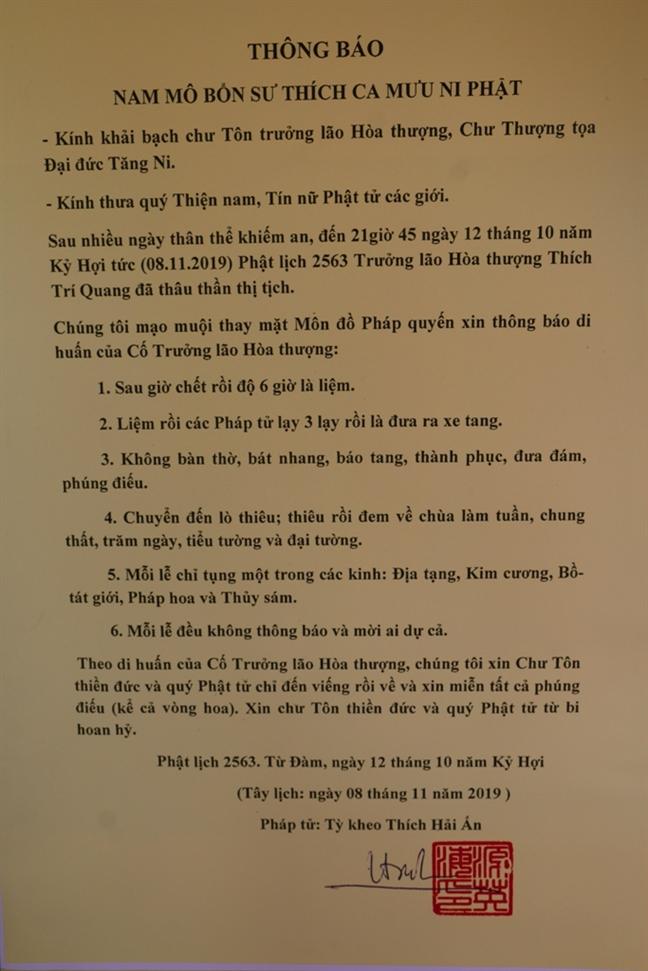 Hang nghin tang ni phat tu den du le nhap kim quan Dai lao Hoa thuong Thich Tri Quang