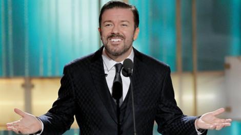 Diễn viên hài Ricky Gervais lần thứ 5 dẫn Quả cầu vàng